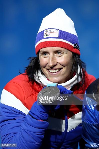 Марит Бьорген с серебром скиатлона.