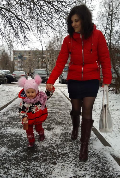 Карина Юрчик-Король с дочерью. Фото: личный архив