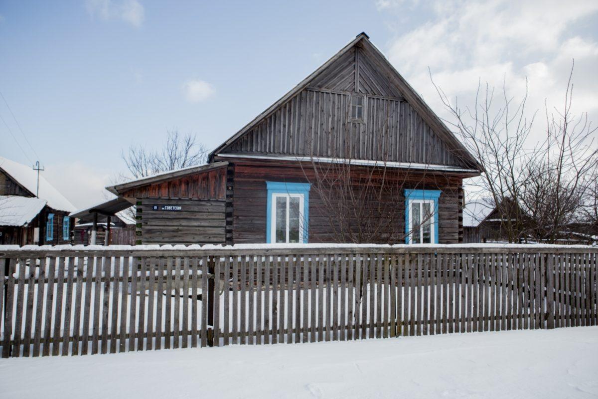 Дом Сергея Алиферовича, который за убийство односельчанина получил пять лет колонии Фото: svaboda.org