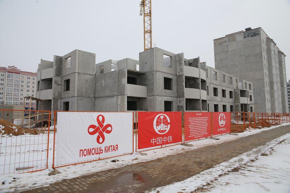 Февраль 2017 года. Строящийся социальный дом на улице Волошина, 7. Фото: Евгений ТИХАНОВИЧ