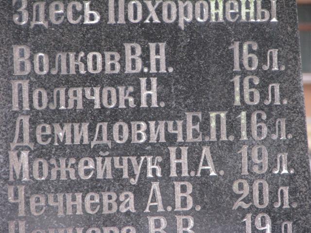 Фамилия Елены Демидович  была выбита на памятнике жертвам пожара по ошибке. Фото: istpravda.ru