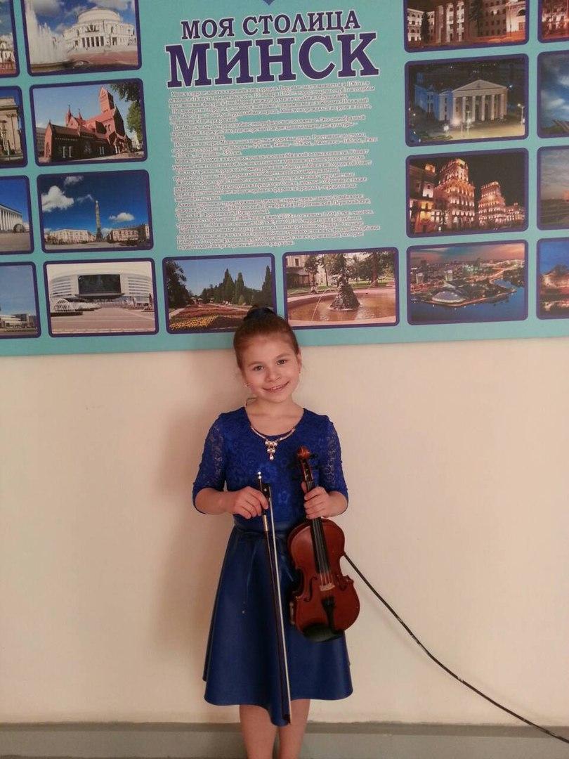 Скрипачка Елизавета Почкайло.