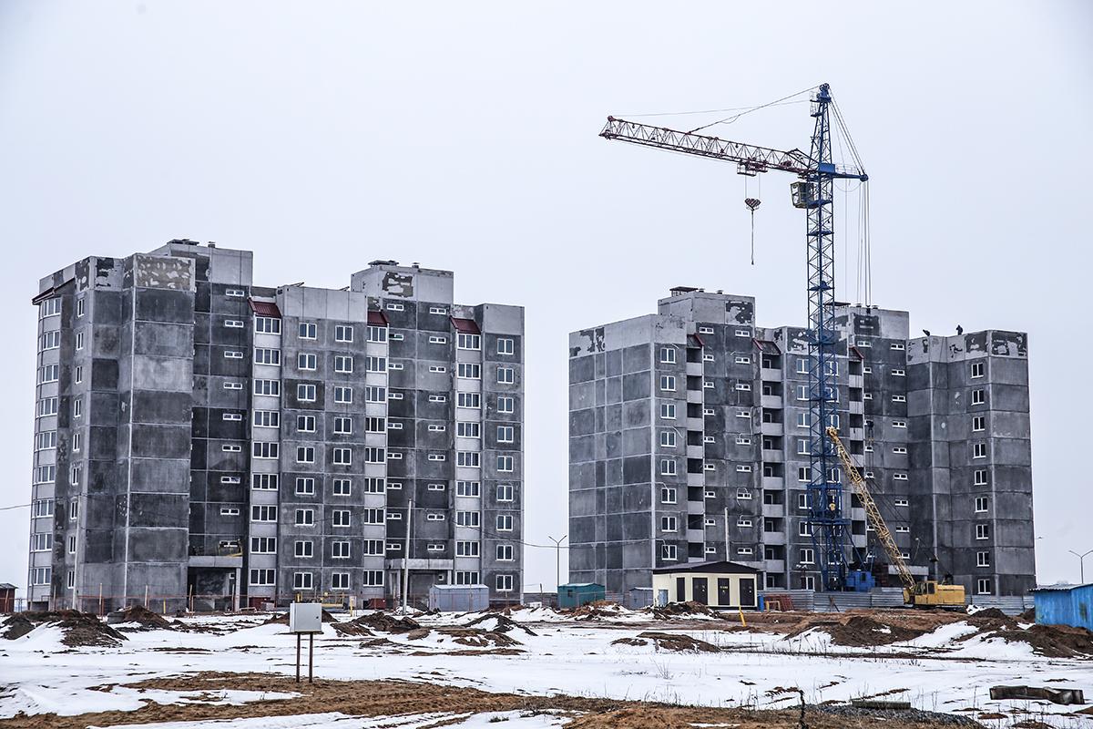 Февраль 2018 года. Строительство новых многоэтажек. Фото: архив Intex-press