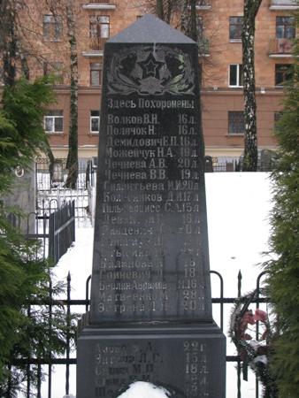 Памятник жертвам страшного пожара в Минске в 1946 г. на Военном кладбище. Фото: istpravda.ru