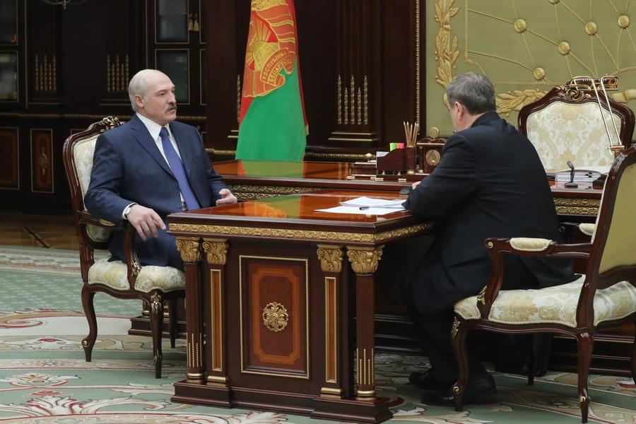 Александр Лукашенко и Михаил Русый. Фото: belta.by