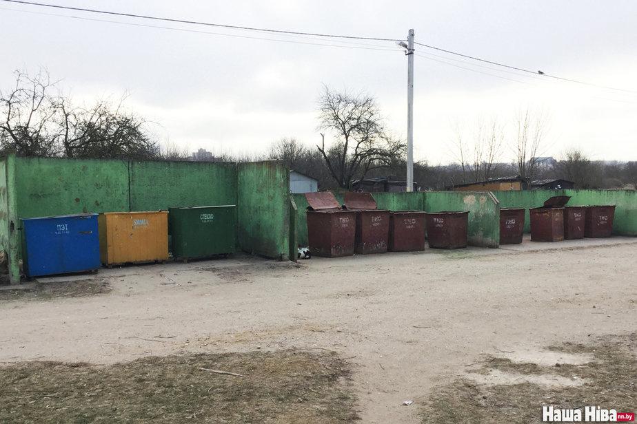Площадка по сбору мусора в Барановичах Фото: «Наша Нiва»
