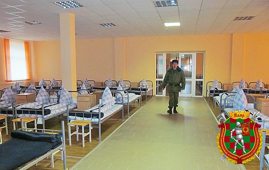 Казарма в одной из воинских частей в Печах. Фото: vsr.mil.by