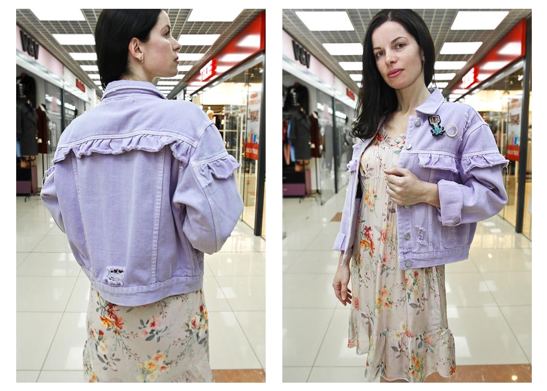 Платье - 72 руб., джинсовая куртка - 76 руб.