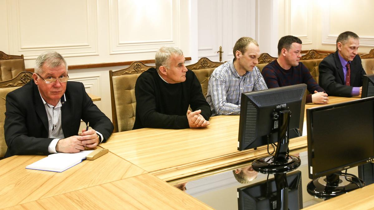 Станислав Никитин, Андрей Хлебосолов, Андрей Кипра, Иван Крутов и Михаил Шолохов (слева направо). Фото: Татьяна МАЛЕЖ