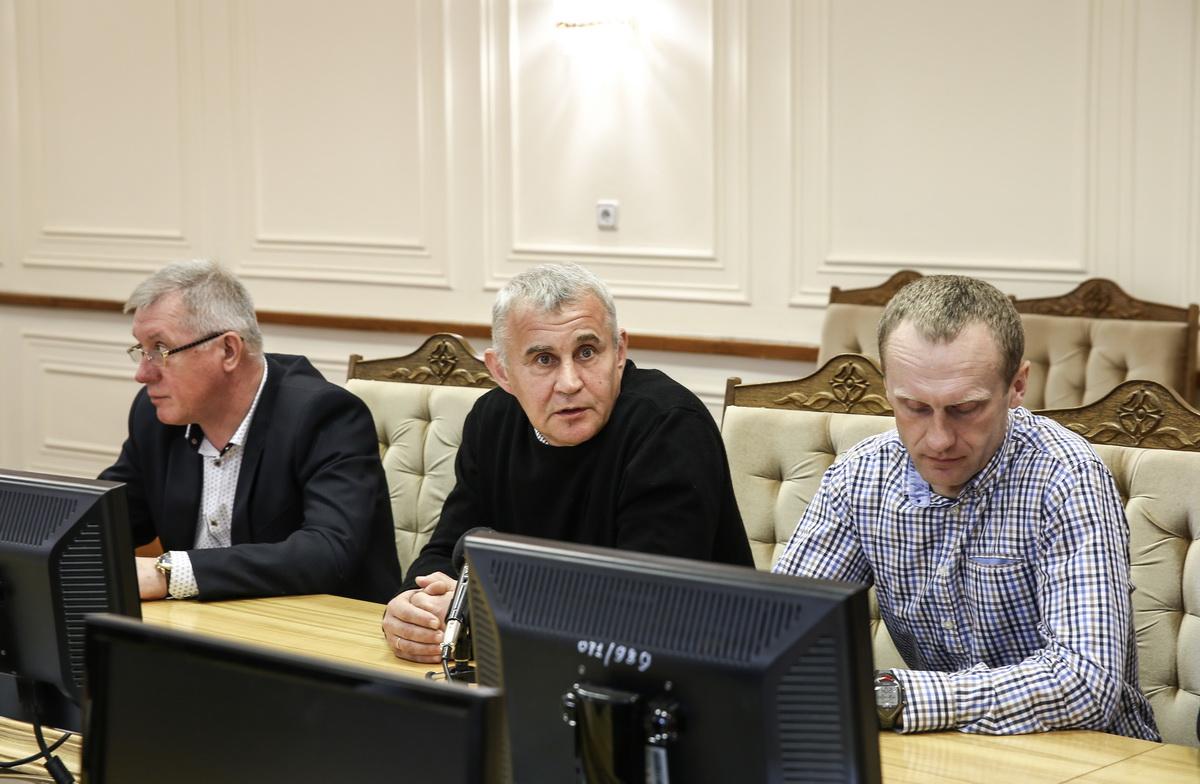 Станислав Никитин, Андрей Хлебосолов, Андрей Кипра (слева направо). Фото: Татьяна МАЛЕЖ