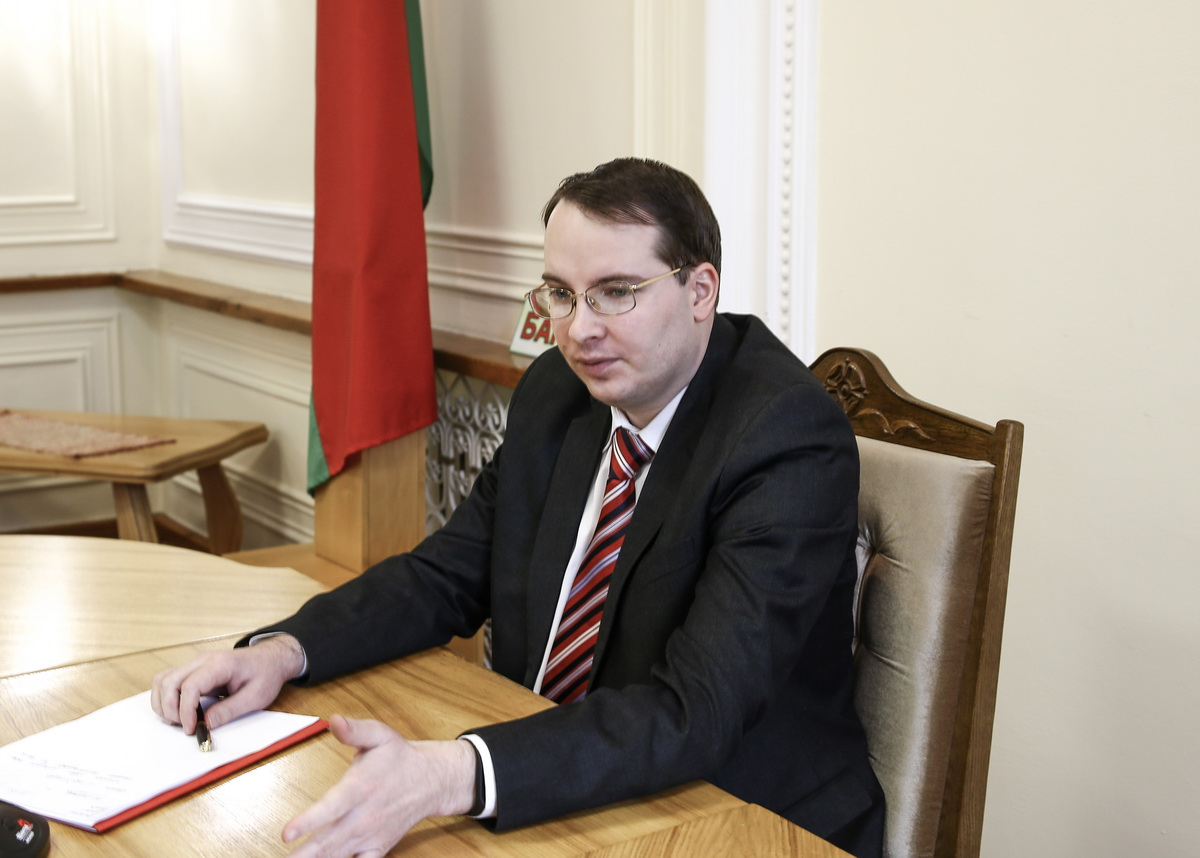 Заместитель председателя горисполкома Алексей Гарбуз. Фото: Татьяна МАЛЕЖ
