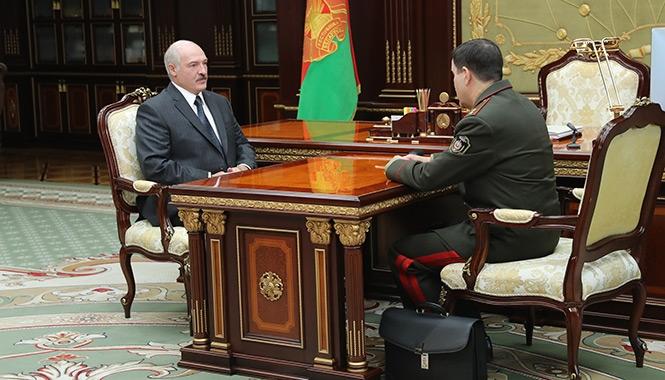 В ходе встречи Александра Лукашенко с главой КГБ Валерием Вакульчиком.