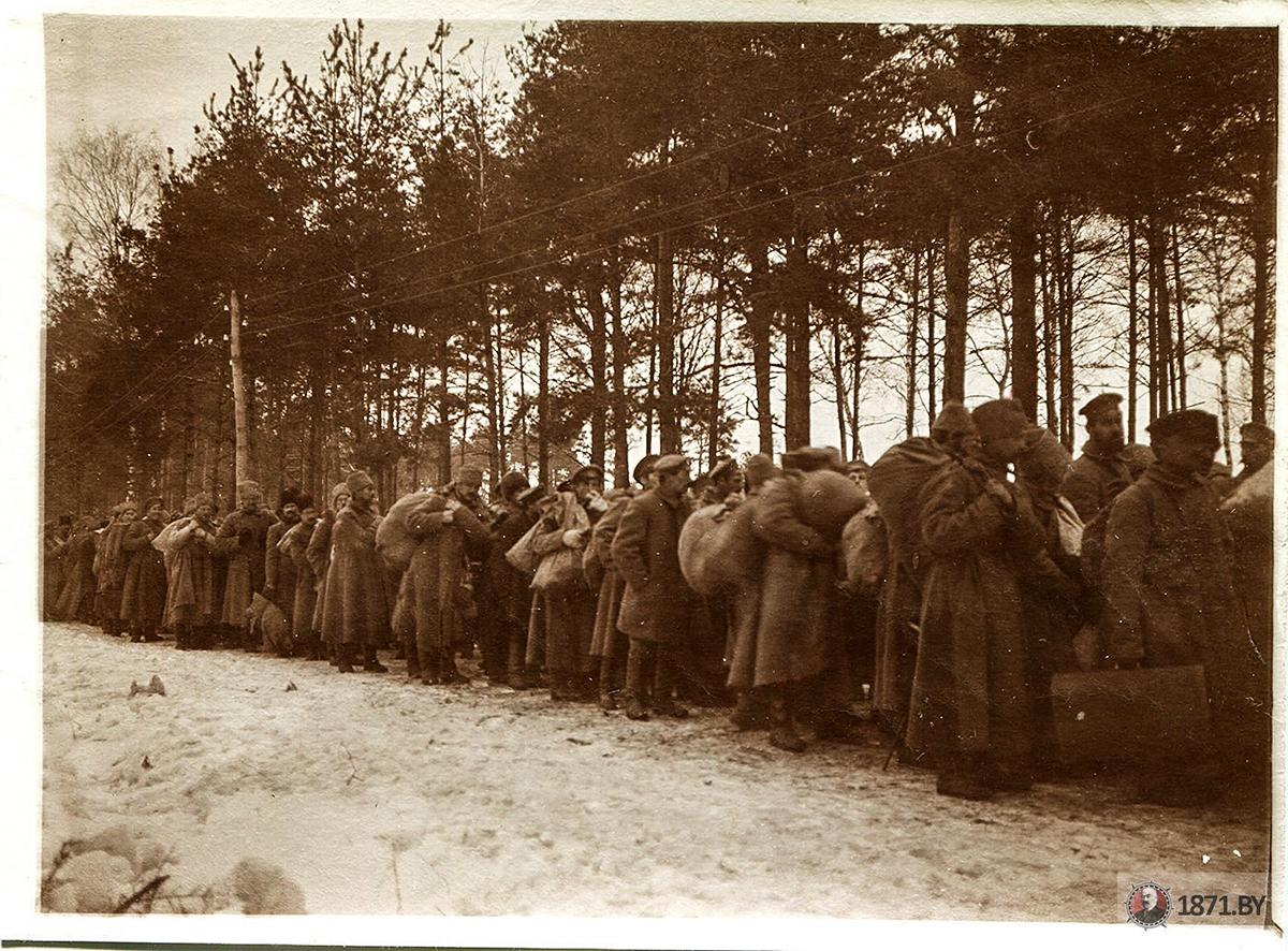 1916 год. Прибытие военнопленных в лагерь. Фото: 1871.by