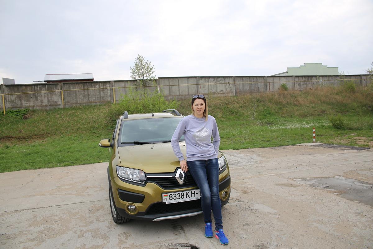 Владелица автомобиля Renault Sandero Stepway  Татьяна Скороход.  фото: Татьяна МАЛЕЖ