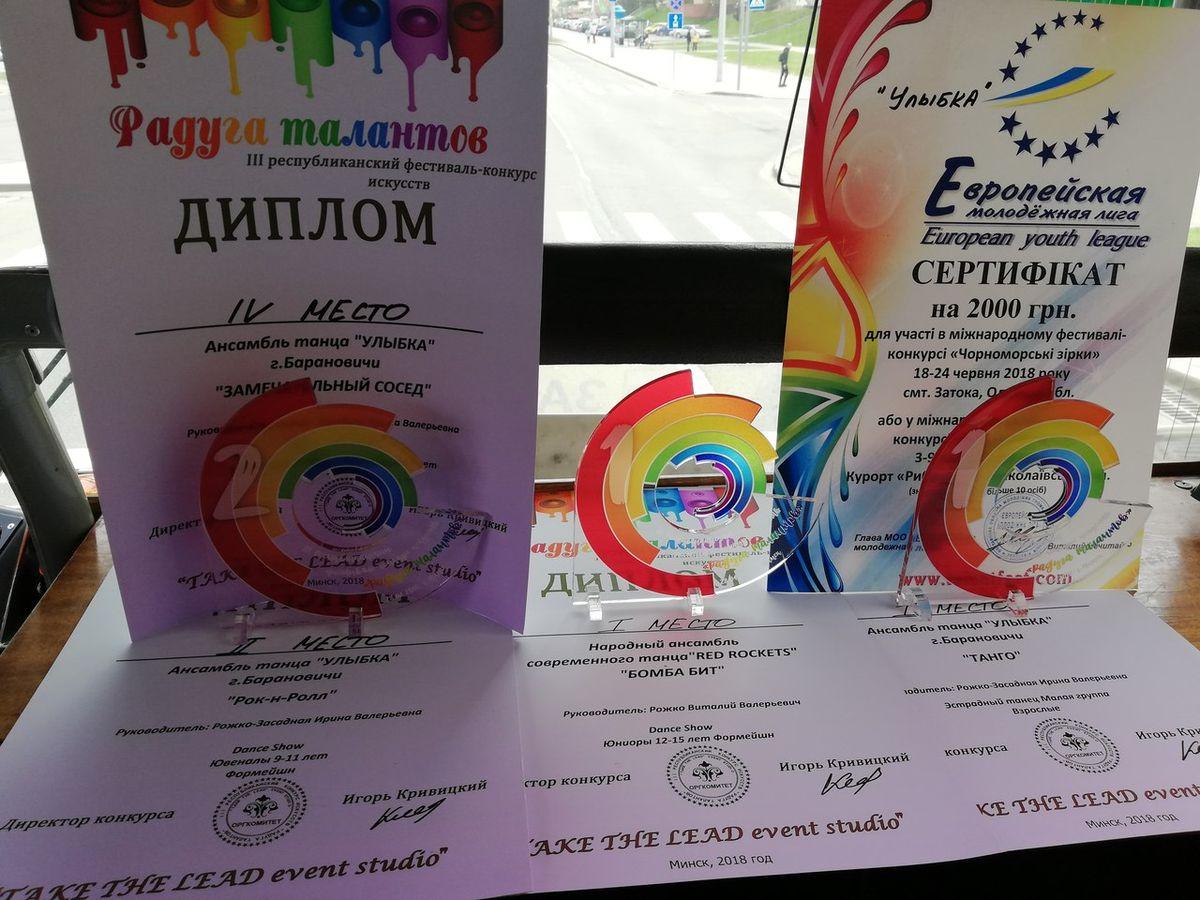 Юные барановичские танцоры завоевали первые места на Открытом фестивале-конкурсе искусств «Радуга талантов» — Intex-press. Последние новости города Барановичи, Беларуси и Мира