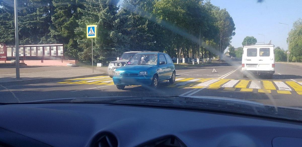 В Барановичах на пешеходном переходе 75-летний водитель сбил мужчину с велосипедом — Intex-press. Последние новости города Барановичи, Беларуси и Мира