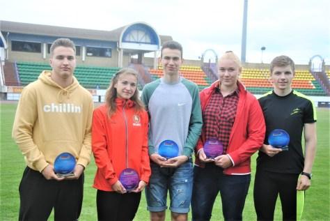 Егор Чуйко (крайний справа) среди лучших спортсменов ОДМ. Фото: БФЛА