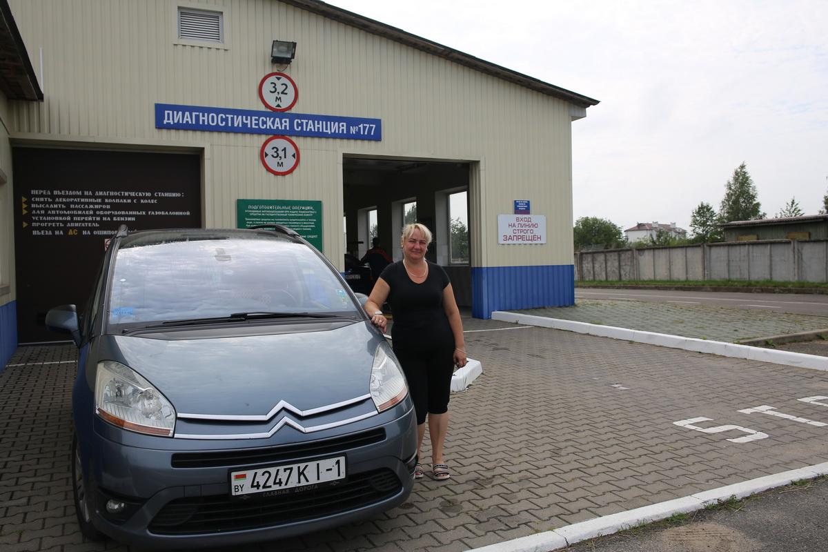Елена Варфоломеева первая приехала на дисностическую станцию №177. Фото: Татьяна МАЛЕЖ