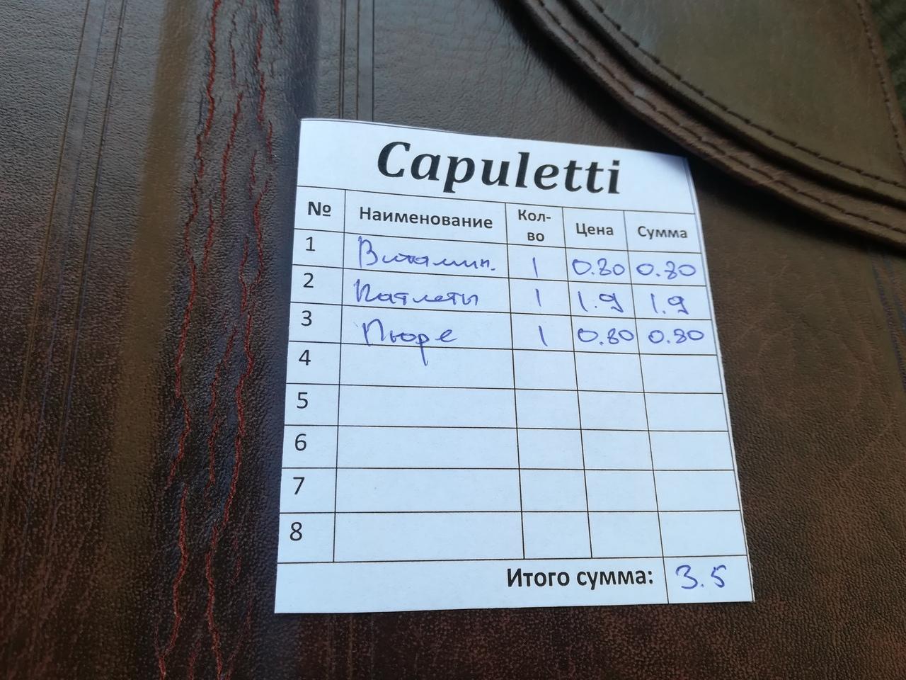 Рейд по барановичскому общепиту. Кафе «Capuletti» — Intex-press. Последние новости города Барановичи, Беларуси и Мира