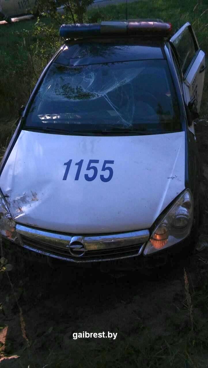 В ГАИ рассказали, как в Бресте во время погони их машина оказалась в кювете — Intex-press. Последние новости города Барановичи, Беларуси и Мира