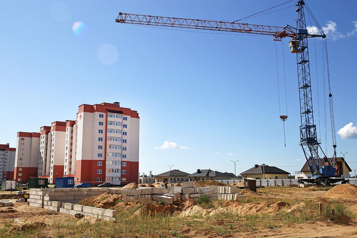Строительство второго детского сада в Боровках. Фото: Евгений ТИХАНОВИЧ