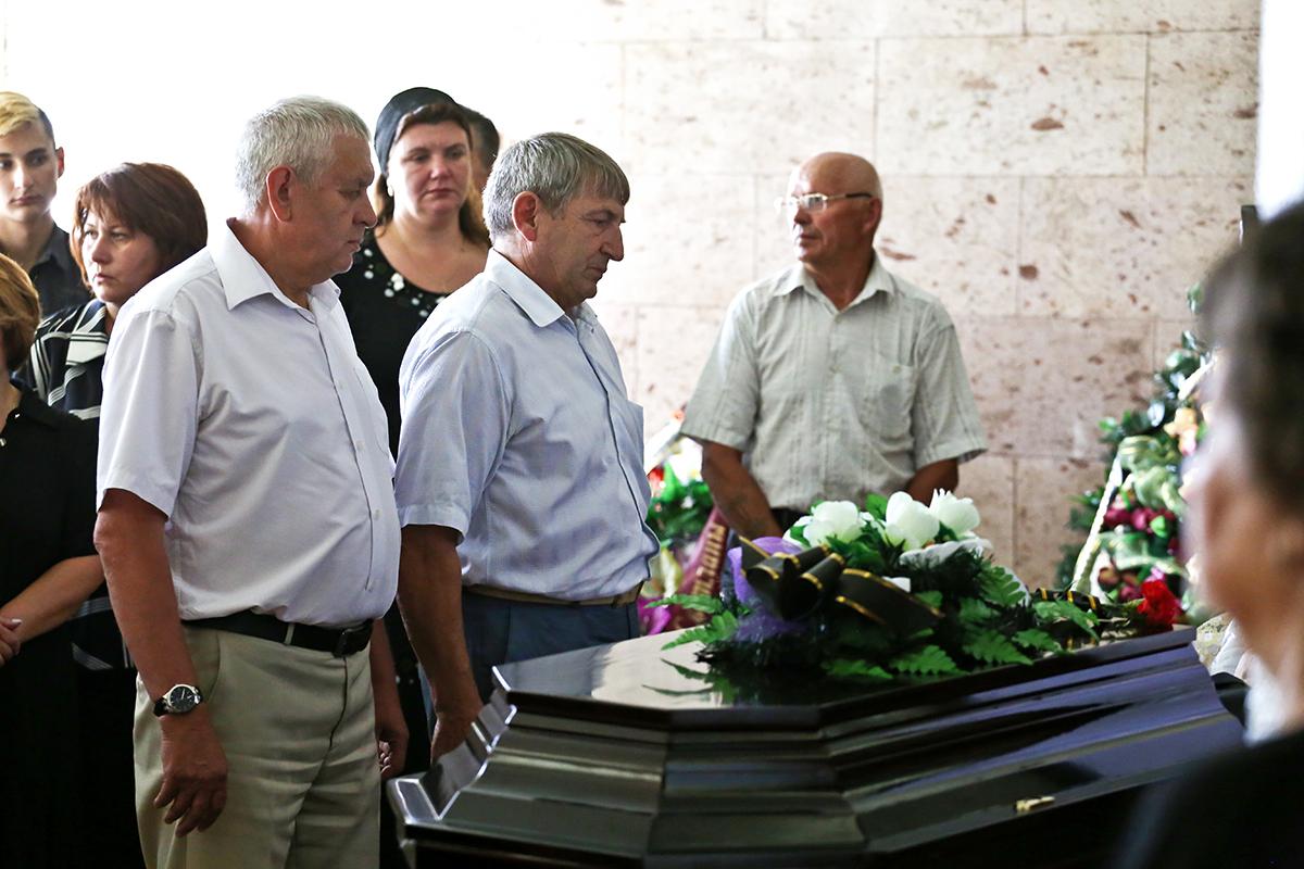 Александр Селифонтов на церемонии прощания. Фото: Евгений ТИХАНОВИЧ.