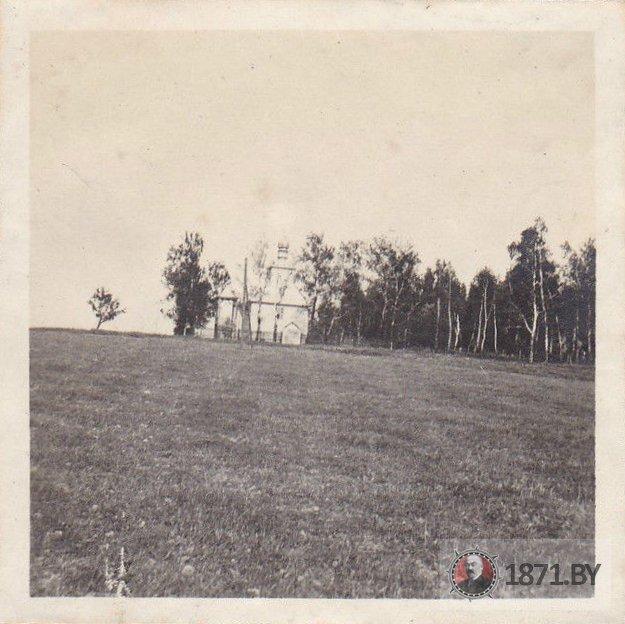 Царква на нямецкім здымку 1916 года. Фота: https://1871.by/